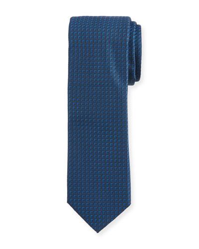 Tonal Square Silk Tie