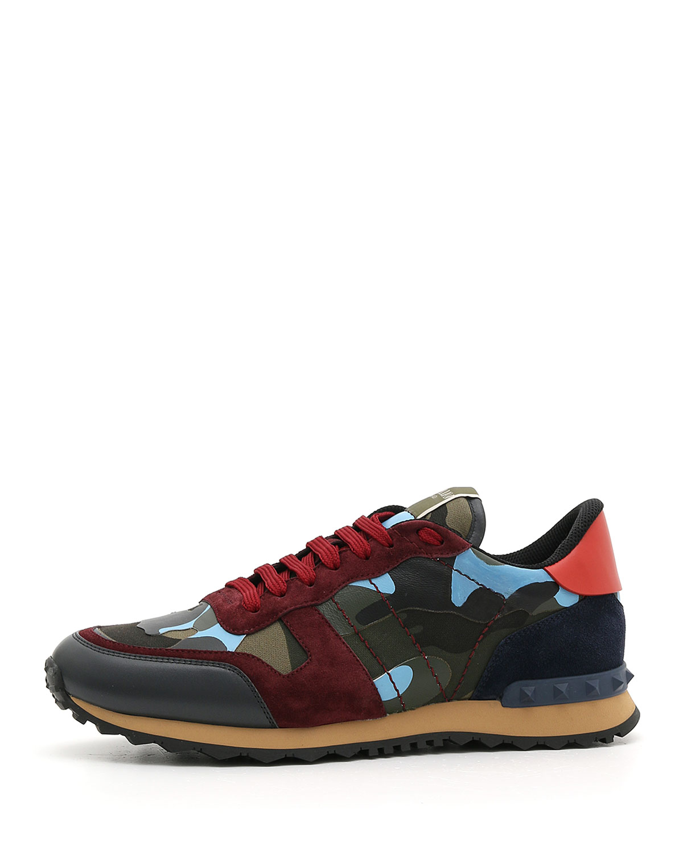 0987b1cc69a1 Valentino Garavani Men s Rockrunner Camo Trainer Sneakers