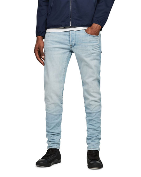 Men's Deconstructed Slim-Leg Jeans