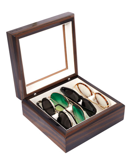 Mini Wooden Eyewear Organizer Case