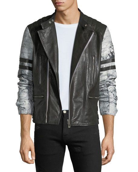 Men's Ennis Hand-Wax Leather Jacket