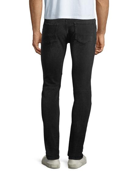 Tattenhall Skinny Washed Denim Moto Jeans