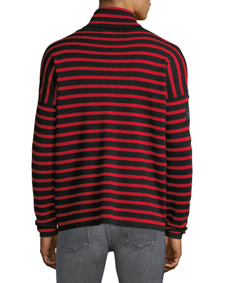 Men's Laburnum Novelty Striped Wool Turtleneck Sweater