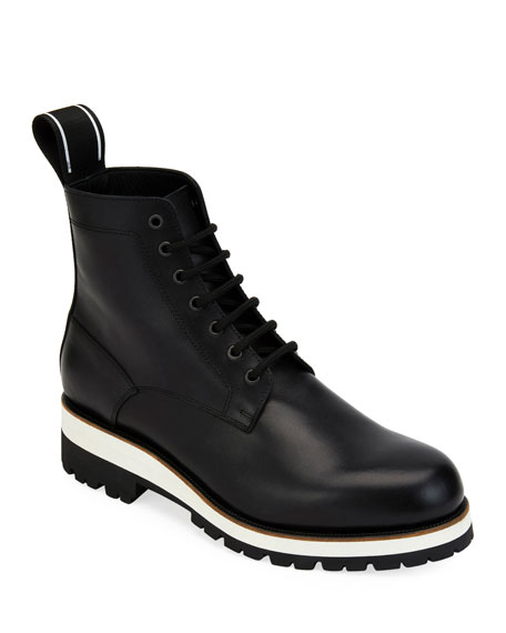 Men's Leather Lace-Up Ankle Boot