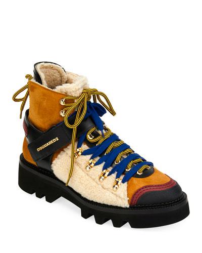 Men's Faux-Shearling Hiker Boot