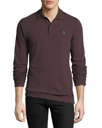 Men's Selbourne Pique Long-Sleeve Polo Shirt