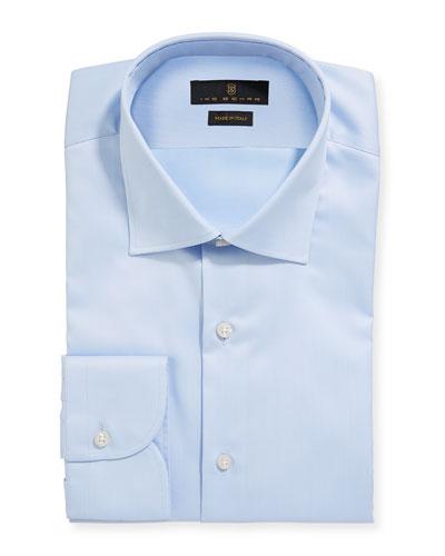 Men's Marcus Twill Barrel-Cuff Dress Shirt  Light Blue