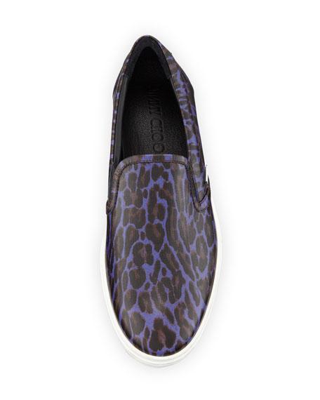 Grove Men's Leopard-Print Slip-On Sneakers