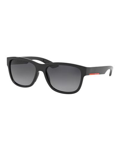 Men's Polarized Rectangle Plastic Sunglasses