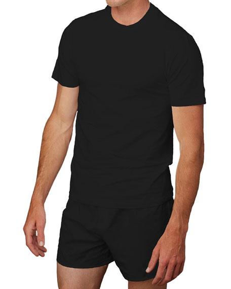 Neiman Marcus Men's 3-Pack Cotton Crewneck T-Shirts