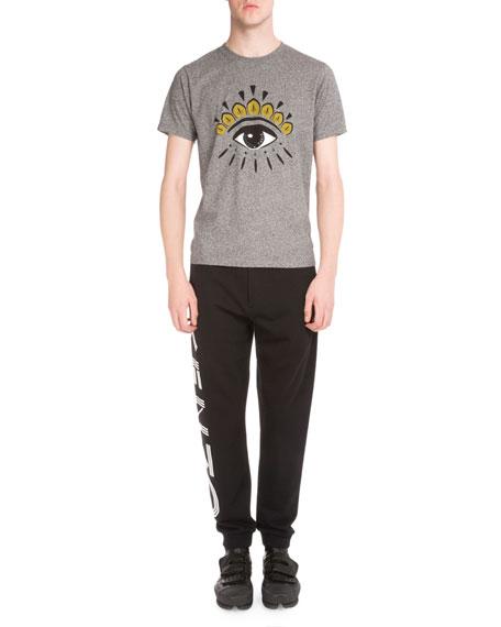 Side-Logo Drawstring Sweatpants, Black
