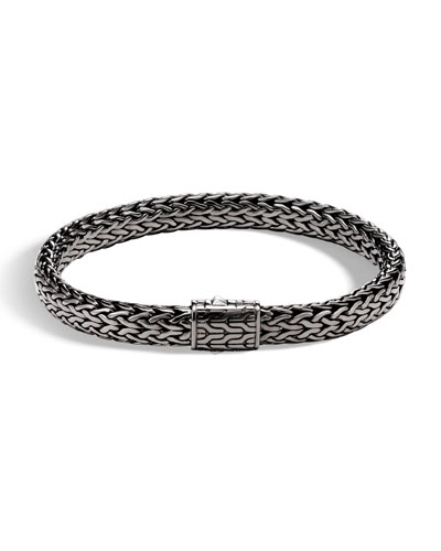 Men's Rhodium-Plated Classic Chain Bracelet