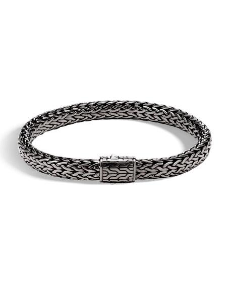 Men's Rhodium-Plated Classic Chain Bracelet