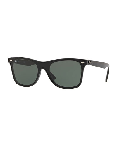 Men's Blaze Wayfarer Lens-Over-Frame Square Sunglasses