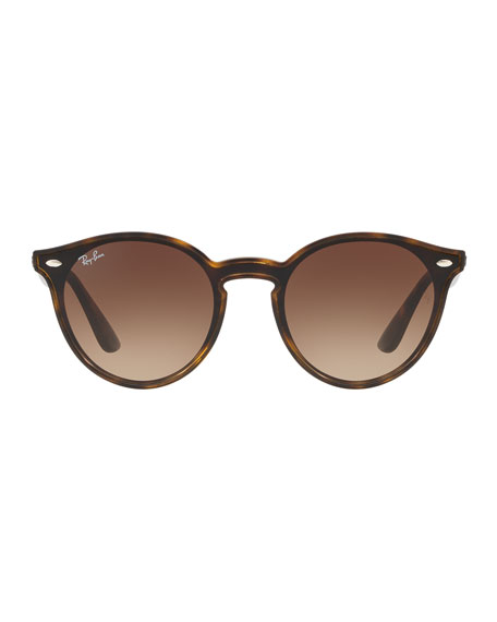 Men's Round Lens-Over-Frame Gradient Plastic Sunglasses