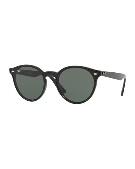 Ray-Ban Men's Round Lens-Over-Frame Plastic Sunglasses