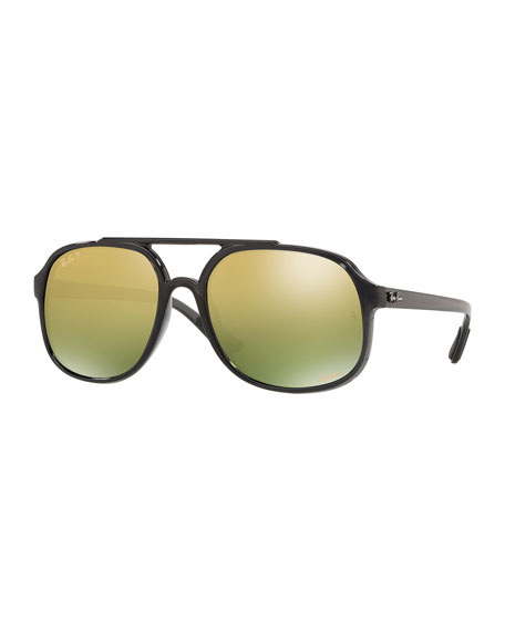 Men's Square Chromance Propionate Sunglasses