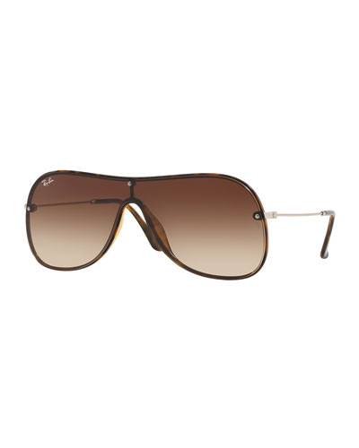 Men's Lens-Over-Frame Gradient Aviator Sunglasses