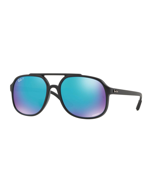 59fde83702 Ray-Ban Men s RB4312 Aviator Propionate Sunglasses