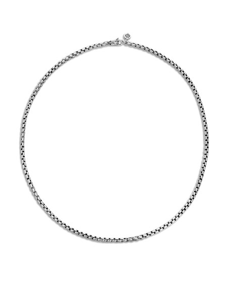 John Hardy Men's Classic Chain Silver 3.7mm Box