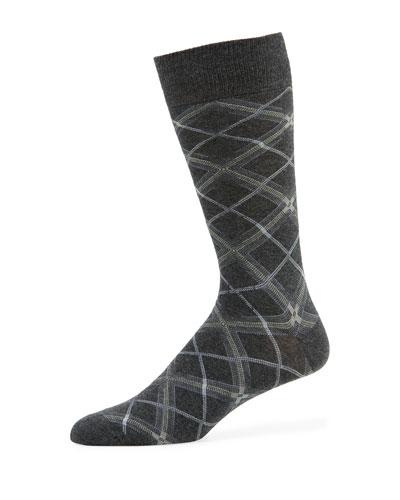 Men's Diagonal Plaid Socks
