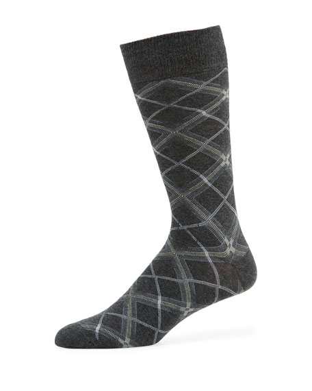 Men's Diagonal Plaid Socks
