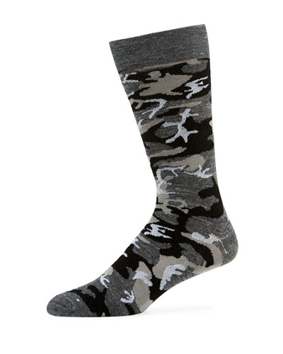 Men's Metallic Camouflage Socks