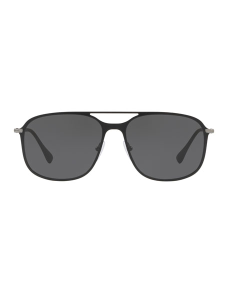 Men's PS 53TS Metal Solid Sunglasses