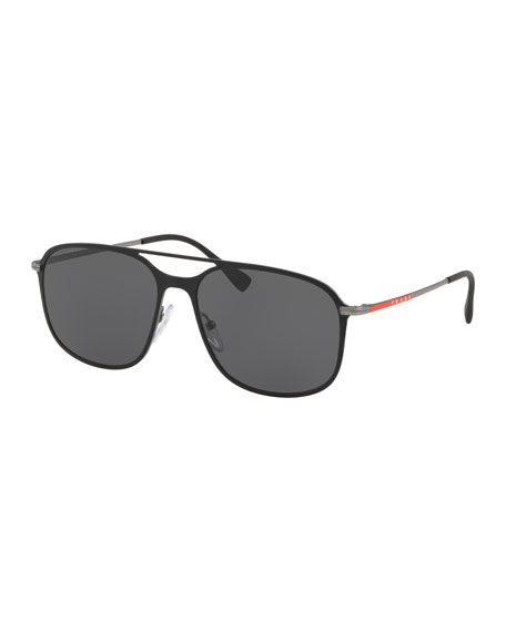 Prada Men's PS 53TS Metal Solid Sunglasses