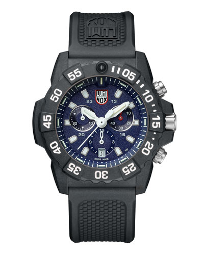 Men's Navy Seal Chronograph Watch  Black/Blue