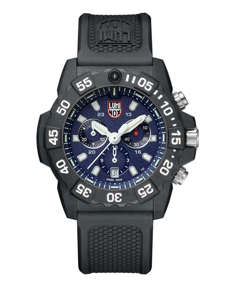 Luminox Men's Navy Seal Chronograph Watch, Black/Blue
