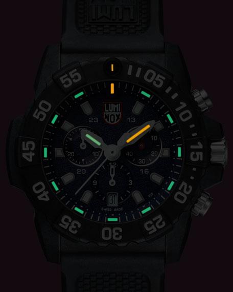Men's Navy Seal Chronograph Watch, Black/Blue