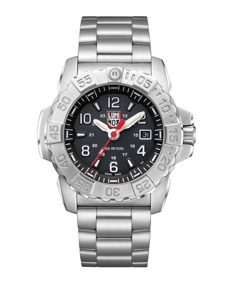 Luminox Men's Navy Seal Bracelet Watch, Silver