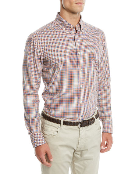 Men's Two-Tone Plaid Sport Shirt