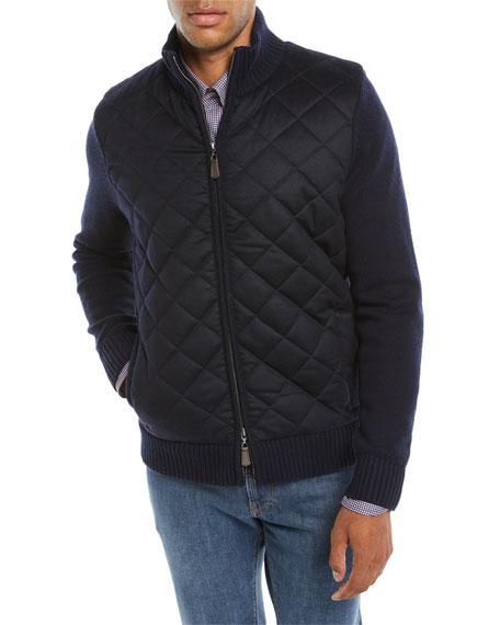 Men's Quilted Zip-Front Jacket