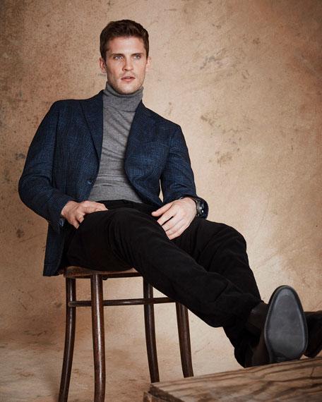 Men's Cashmere/Silk Turtleneck Sweater