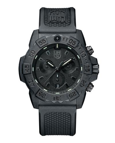 Men's Navy SEAL Chronograph Watch, Black