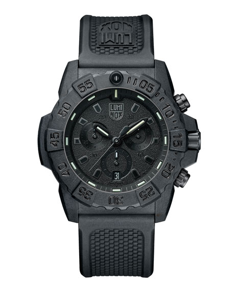 Luminox Men's Navy SEAL Chronograph Watch, Black