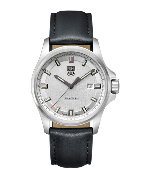 Luminox Men's Dress Field Watch with Leather Strap,