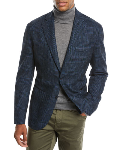 Men's Houndstooth 3-Button Sport Jacket