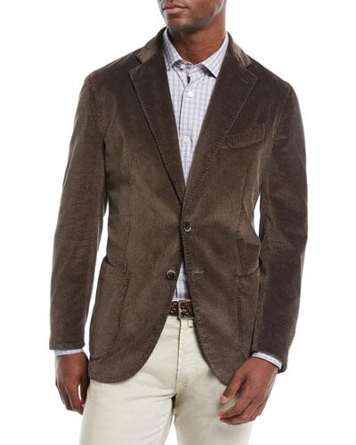 27490c047f Men's Corduroy 3-Button Jacket