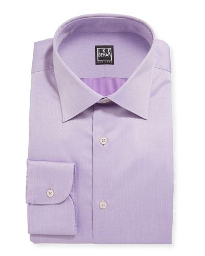 Men's Marcus Twill Barrel-Cuff Dress Shirt  Lavender