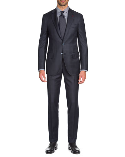 Men's Tonal Plaid Two-Piece Wool Suit