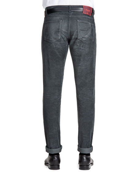 Men's Straight-Leg 5-Pocket Corduroy Pants