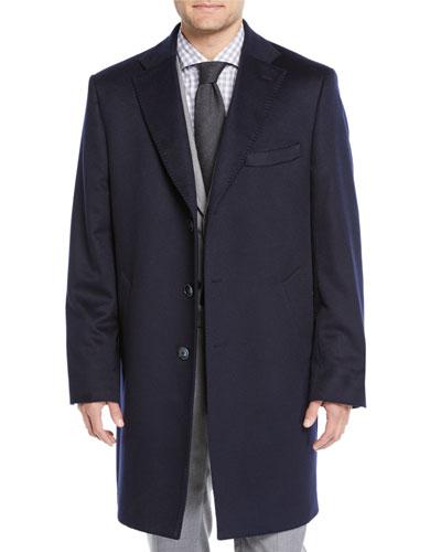 Men's Cashmere Three-Button Top Coat