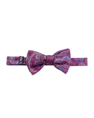 Men's Geno Paisley-Print Silk Bow Tie
