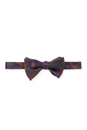 Edward Armah Men's Nirvana Floral-Print Silk Bow Tie