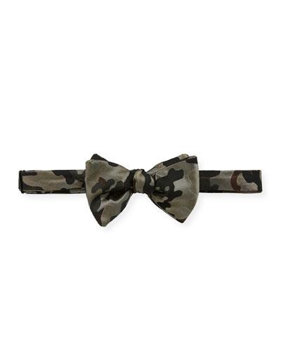 Men's Citi Camo-Print Silk Bow Tie