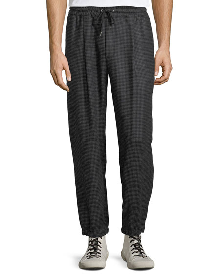 McQ Alexander McQueen Men's Tailored Wool Track Pants