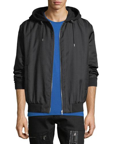 Men's Hooded Zip-Front Anorak Jacket